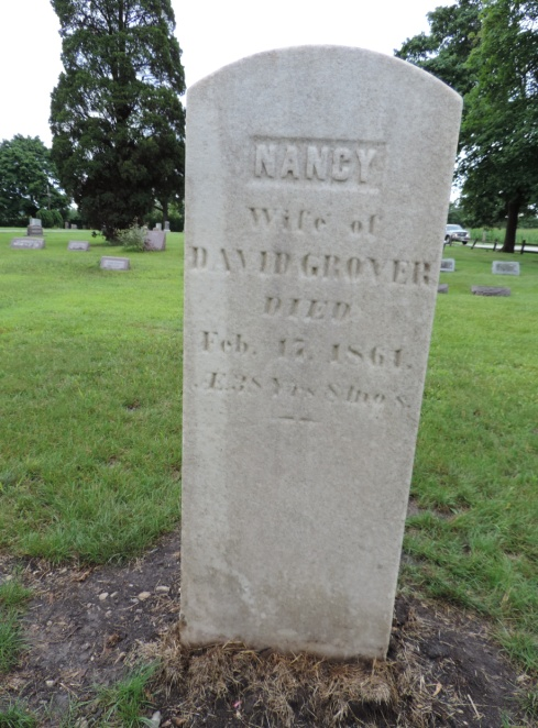 C:\Users\Vern\Pictures\Historical\Fort Hill Cemetery\2019-08 Fort Hill Cemetery Before and After photos\Grover, Nancy 1861 aft DSCN5744.JPG