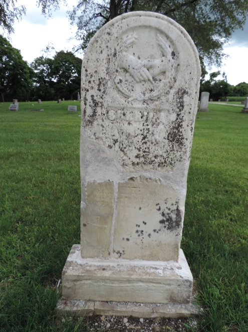 C:\Users\Vern\Pictures\Historical\Fort Hill Cemetery\2019-08 Fort Hill Cemetery Before and After photos\Goodale, Subrina 1851 aft DSCN5738.JPG
