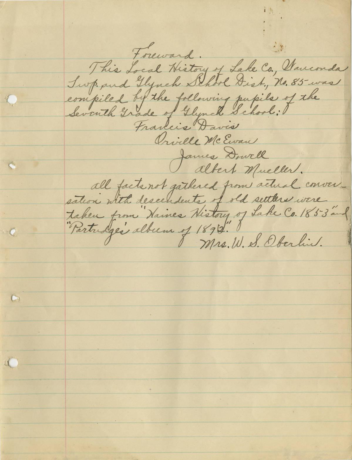 C:\Users\Vern\Documents\Fort Hill\1918 Schools Centennial\1918 Wauconda Twp Glynch School\1918_School_Histories__Wauconda_Township__Glynch_School_2003045_Page_1.jpg