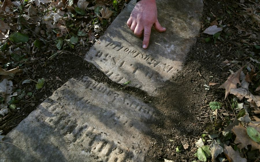 A gravestone is dated 1850 in the Hope Grove cemetery in Wauconda Township.