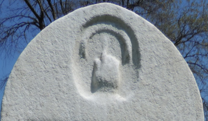 C:\Users\Vern\Pictures\Historical\Fort Hill Cemetery\COMBINED FORT HILL PHOTOS\Fort Hill gravestone symbols\Finger up - Martha Whitney.JPG