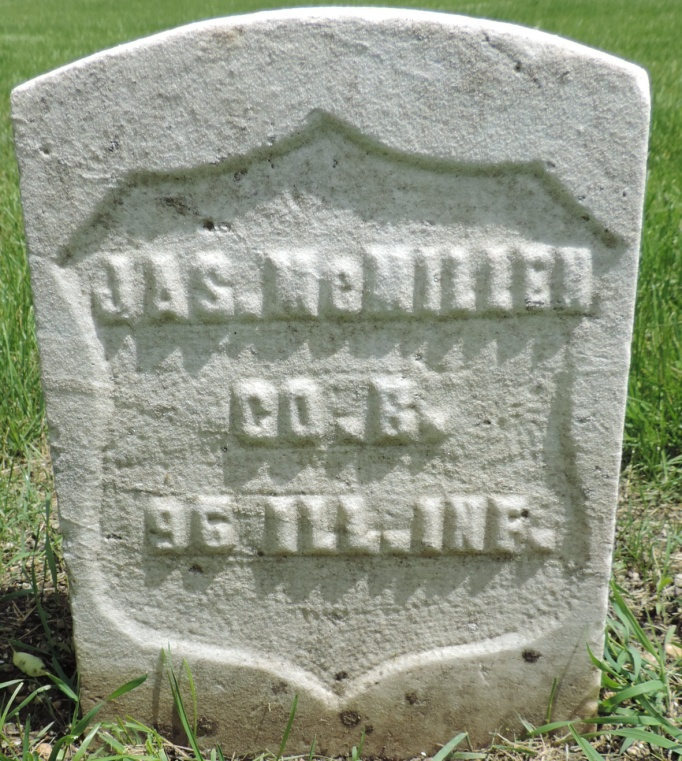 C:\Users\Vern\Pictures\Historical\Fort Hill Cemetery\COMBINED FORT HILL PHOTOS\Fort Hill gravestone symbols\Shield - James McMillen.JPG