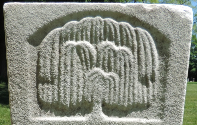 C:\Users\Vern\Pictures\Historical\Fort Hill Cemetery\COMBINED FORT HILL PHOTOS\Fort Hill gravestone symbols\Willow Tree - Ann Cooper.jpg