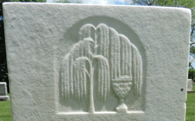 C:\Users\Vern\Pictures\Historical\Fort Hill Cemetery\COMBINED FORT HILL PHOTOS\Fort Hill gravestone symbols\Willow Tree w Vase - George Case.jpg