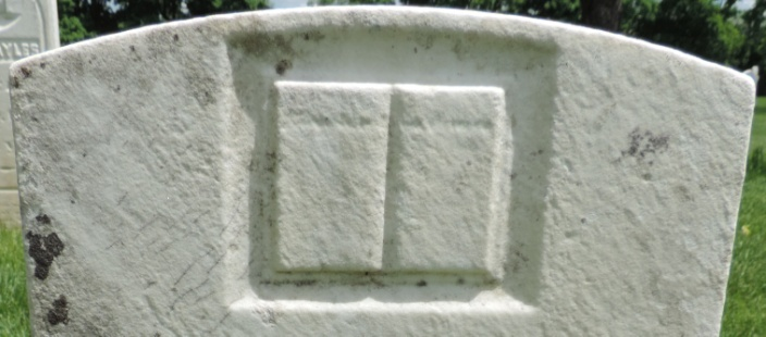 C:\Users\Vern\Pictures\Historical\Fort Hill Cemetery\COMBINED FORT HILL PHOTOS\Fort Hill gravestone symbols\Book - Austin Briggs.jpg