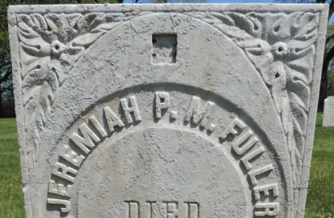 C:\Users\Vern\Pictures\Historical\Fort Hill Cemetery\COMBINED FORT HILL PHOTOS\Fort Hill gravestone symbols\Leaves - Jeremia Fuller.jpg