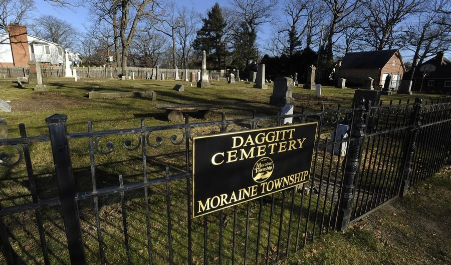 Daggitt Cemetery on Lake-Cook Road at St. Johns Avenue in Highland Park was established by Robert Daggitt as a family burial ground in 1845. The first phase of a project to clean, repair and reset markers has been completed.