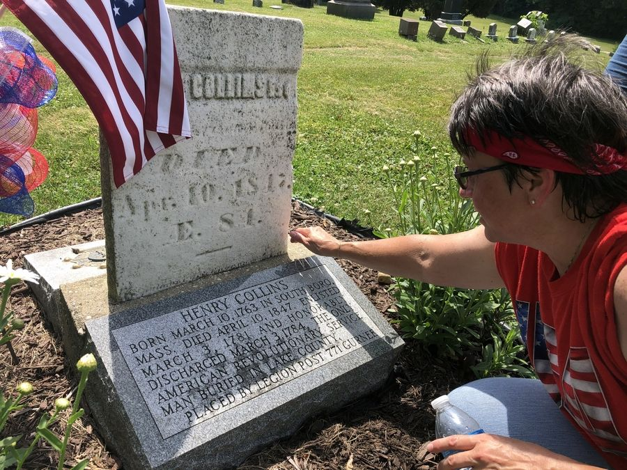 Lake Villa resident Pam Holmes, a member of the Daughters of the American Revolution, was drawn to the secluded Mount Rest Cemetery in Wadsworth by the grave of Revolutionary War soldier Henry Collins.