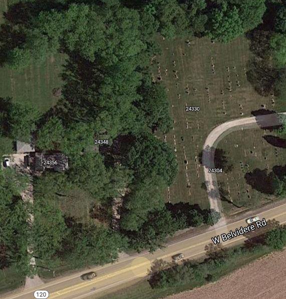 2021 Fort Hill Cemetery satellite Google map.JPG
